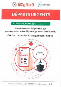 DEPARTS URGENTS